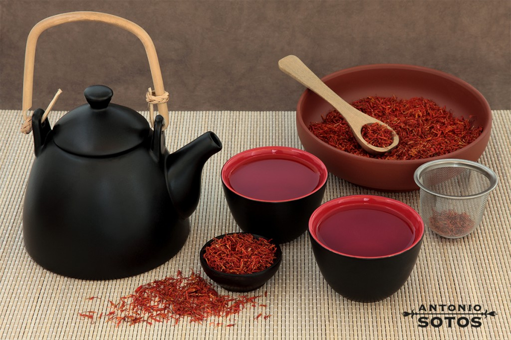 The infusion of saffron