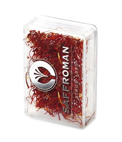 Azafrán en Hebras Saffroman – 1 gramo – Caja de Plástico