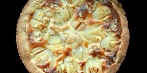 tarta de peras al azafran