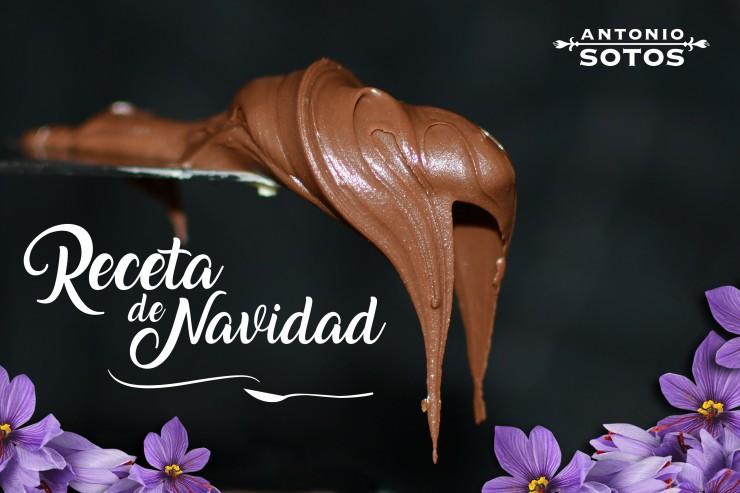 Receta de turrón de chocolate con azafrán