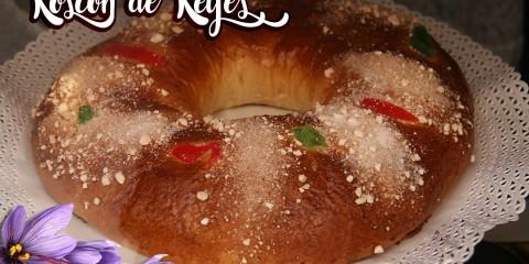 Receta de Roscón de Reyes con azafrán