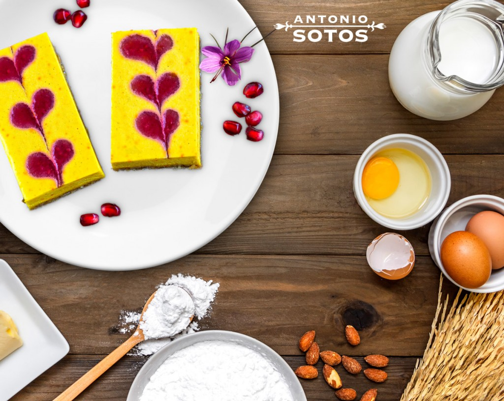 Add saffron to your cheesecake