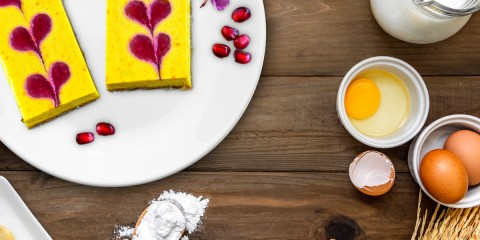 Add saffron to your cheesecake