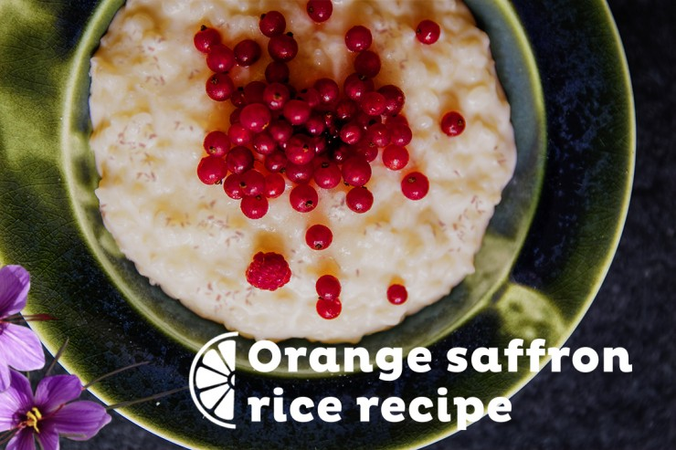 Orange saffron rice recipe