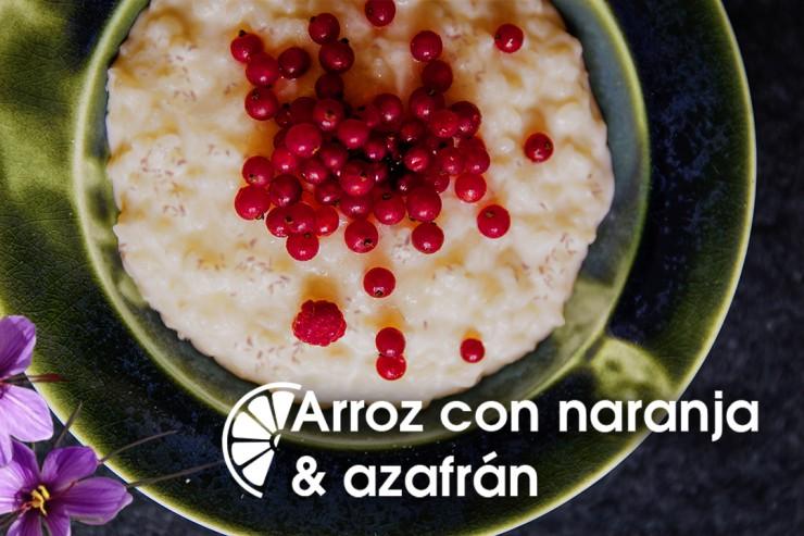 Receta de arroz con naranja al azafrán.