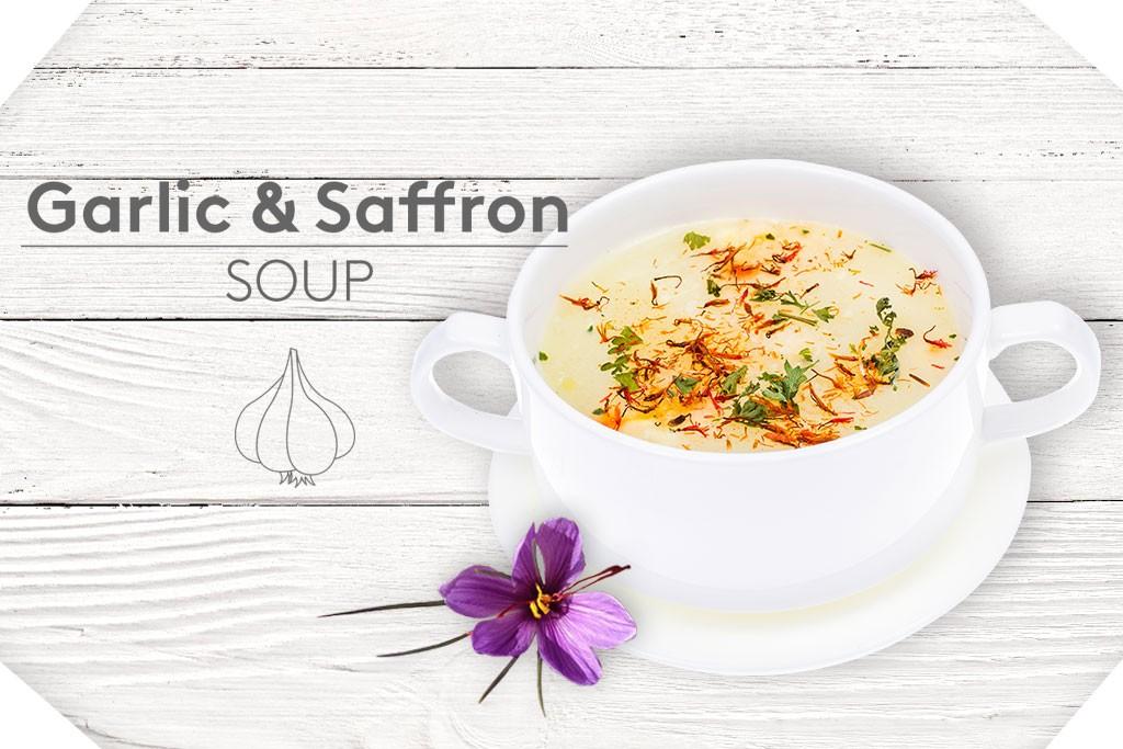 Garlic and saffron soup