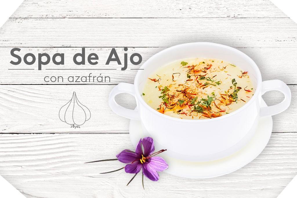 Sopa de ajo con azafrán