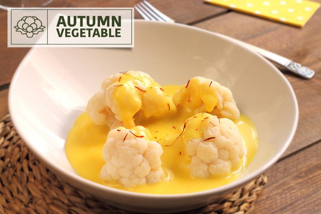 Cream of Cauliflower with saffron soup, an ideal recipe for autumn.