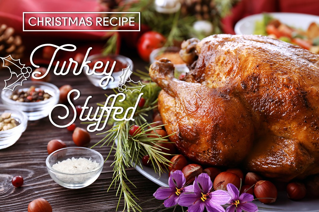 Roast Turkey with Saffron Stuffing, perfect for this Christmas