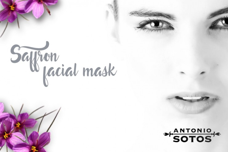 Saffron Facial Mask for softening skin
