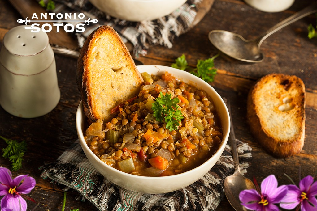 Lentils, if that's what you want great and if not ... With vegetables and saffron