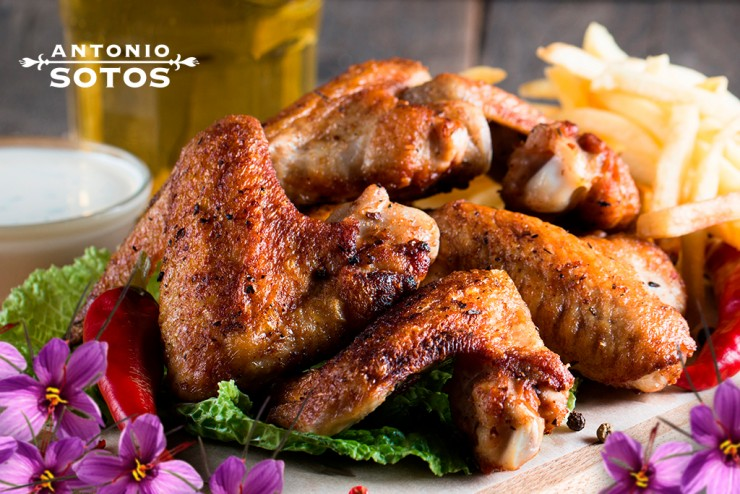 Spicy Saffron Chicken Wings