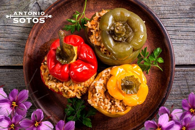 Saffron stuffed bell peppers