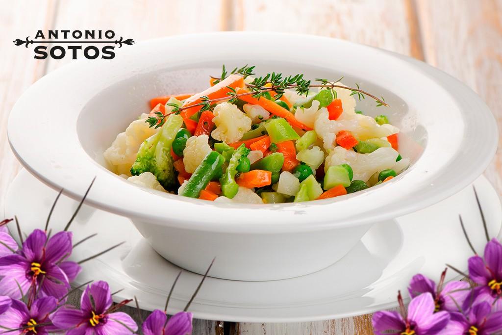 Mix de verduras al azafrán