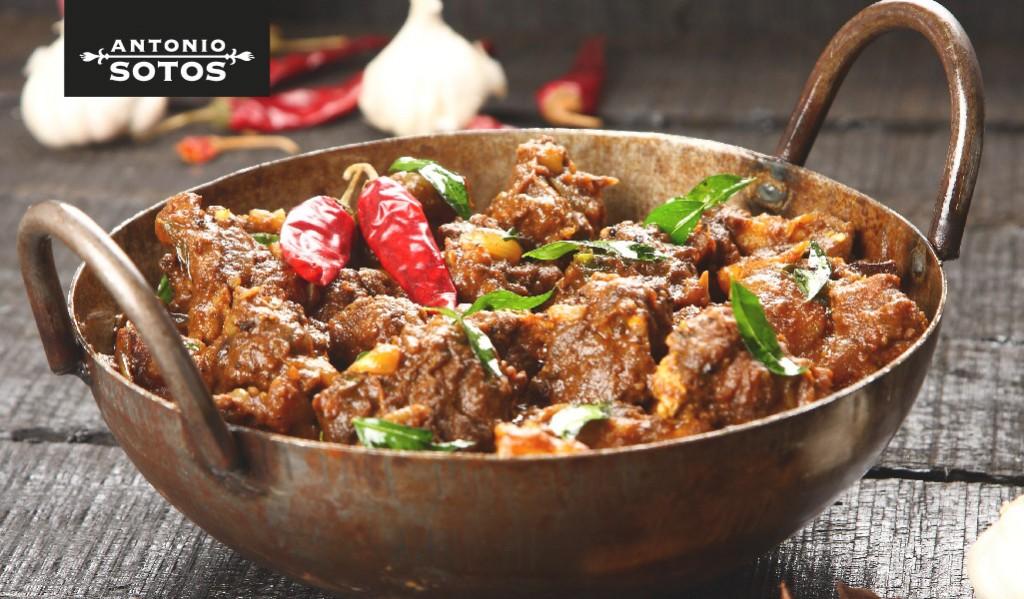 Saffron lamb curry