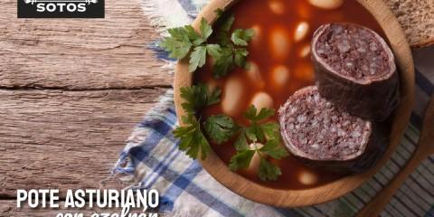 Pote asturiano con azafrán