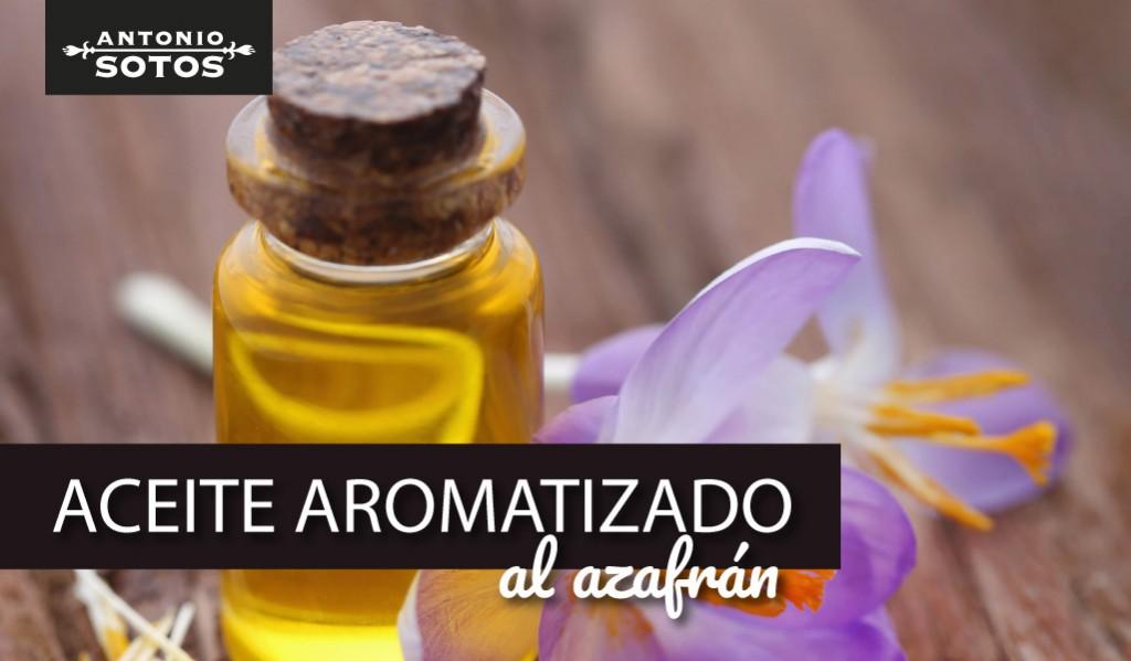 Aceite aromatizado con azafrán, una delicatesen casera