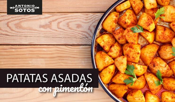 Patatas asadas con pimentón, una guarnición fácil y sabrosa