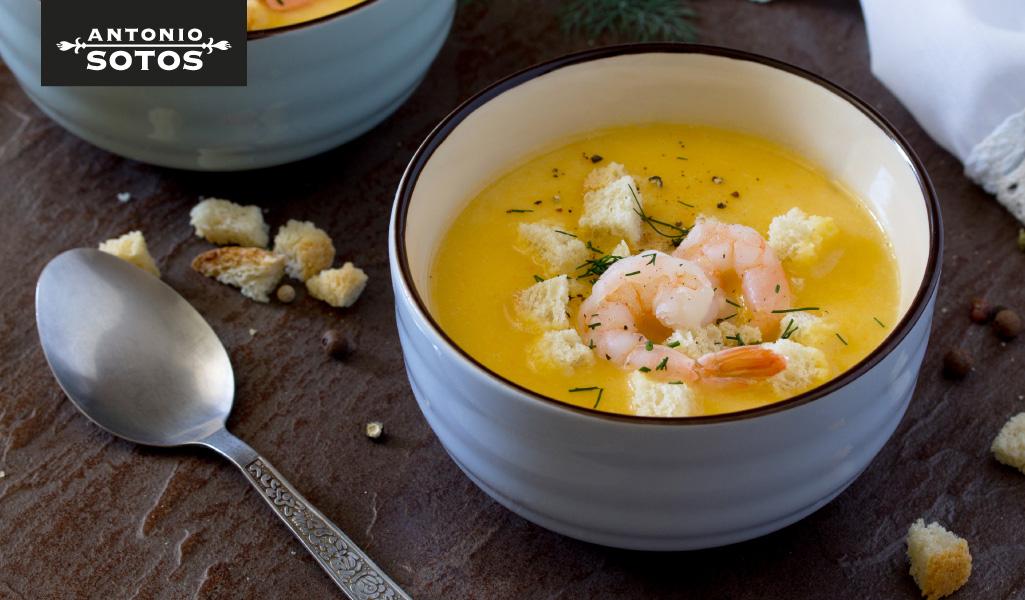 Saffron Prawn Cream Soup