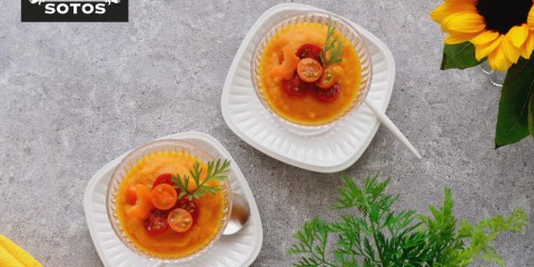 Gazpacho de zanahoria con azafrán