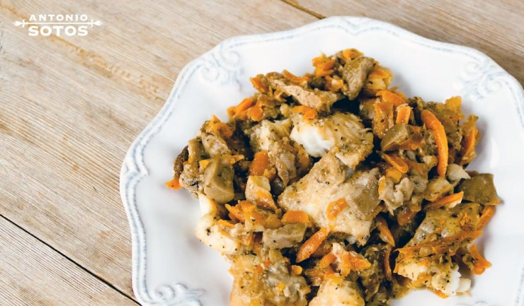 Bacalao en escabeche de azafrán, una receta de vigilia