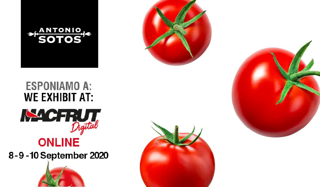 Antonio Sotos participará en Macfrut 2020, la feria digital más importante del sector de la alimentación