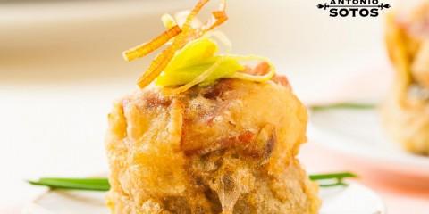 Alcachofa en tempura con azafrán