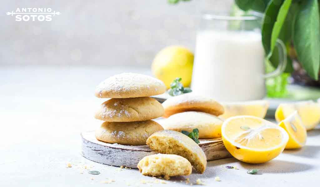 Galletas de limón y azafrán