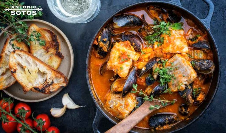 caldereta pescado azafran